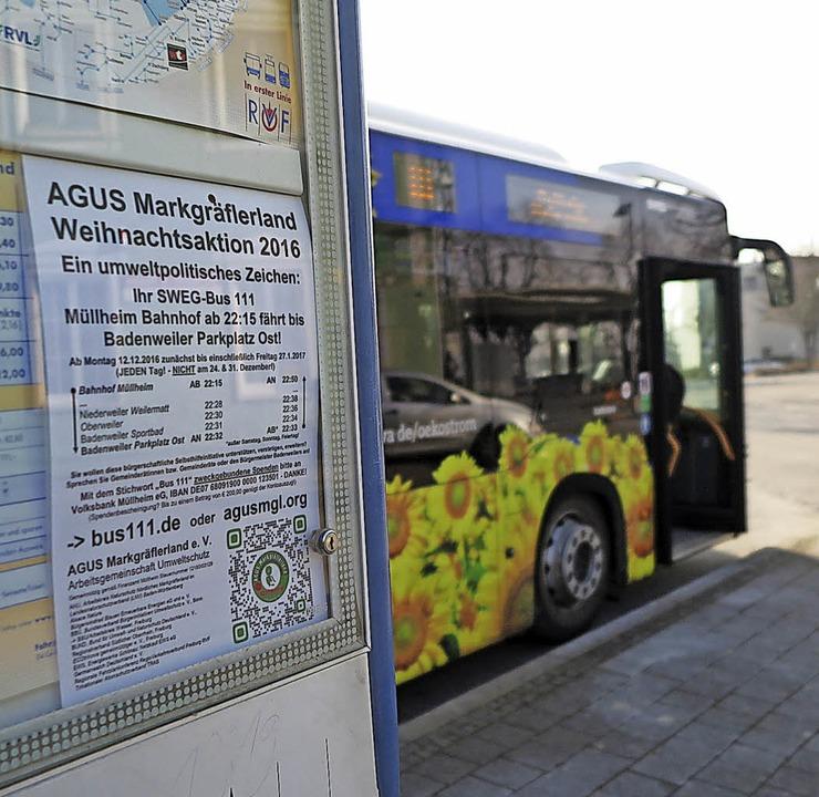 Mit Spenden finanziert die Agus den Spätbus auf der Linie 111.   | Foto: Philipp