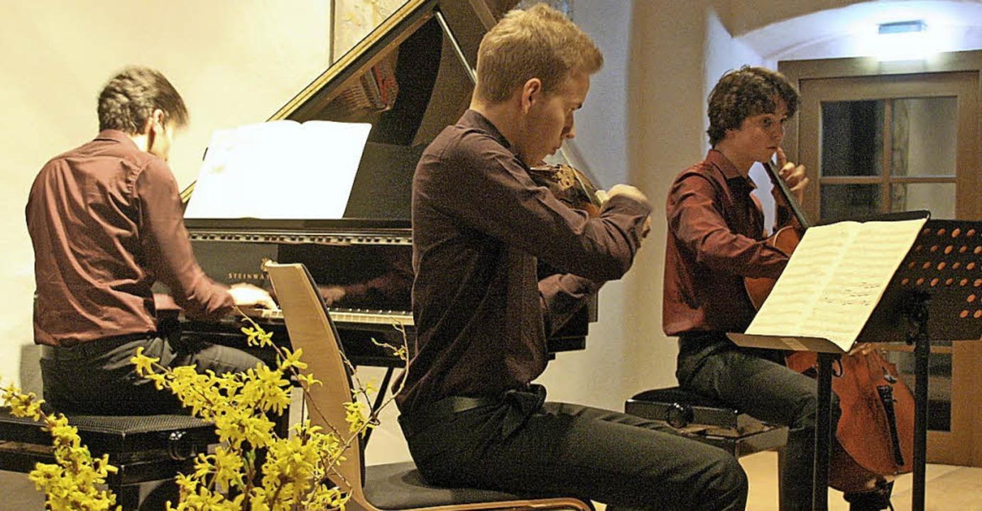 Das Trio Millennium präsentierte im St...tri Schostakowitsch und Franz Schubert  | Foto: Hans Jürgen Kugler