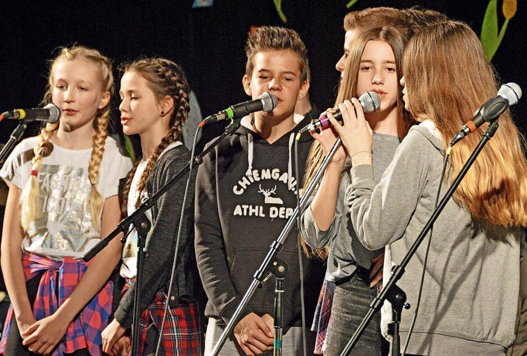 "Erst zum Schuljahresbeginn formierte s...band ""The Real Solution"".   | Foto: Gerhard Lück"