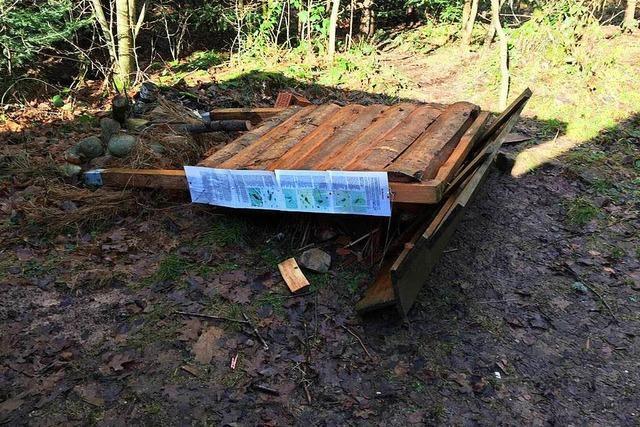 Schon wieder Vandalen beim Schopfheimer Waldkindergarten