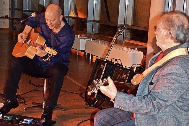 Zwei klasse Musiker spielen den Blues