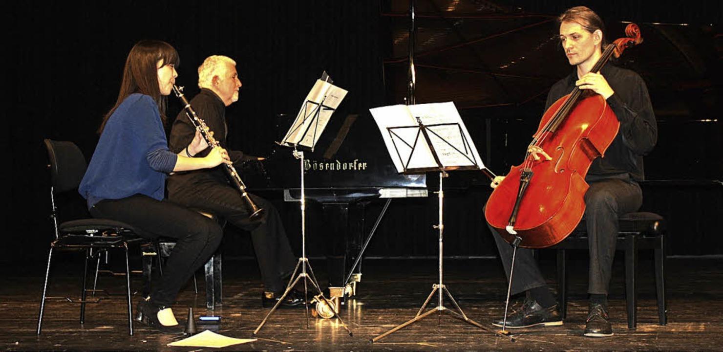 Die Musiker Mei Osato (Klarinette), Az...ello) überzeugten mit ihrem Programm.   | Foto: Hildegard Karig