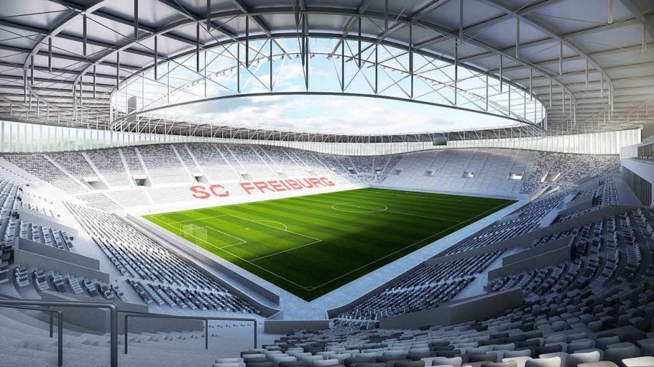 ...Die ovale äußere Form unterscheidet...lätze an den Längsseiten des Stadions.    Foto: Rendertaxi / gmp Architekten