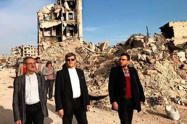 Freiburger Erzbischof Stephan Burger besucht Krisengebiete in Syrien