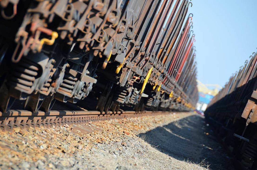 In Lebensgefahr brachten sich zwei  Mä...fenburg auf einem Güterzug ausharrten.    Foto: Helmut Seller