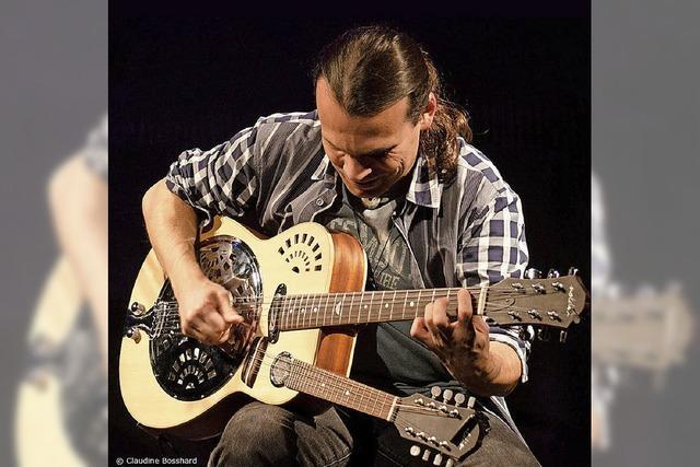 Solo-Gitarrist Attila Vural im Spitalkeller