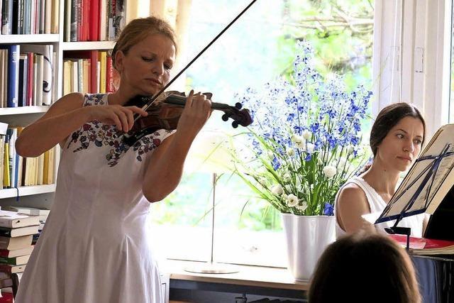 Saskia Mährlein und Natalia Movchan im Pflugsaal