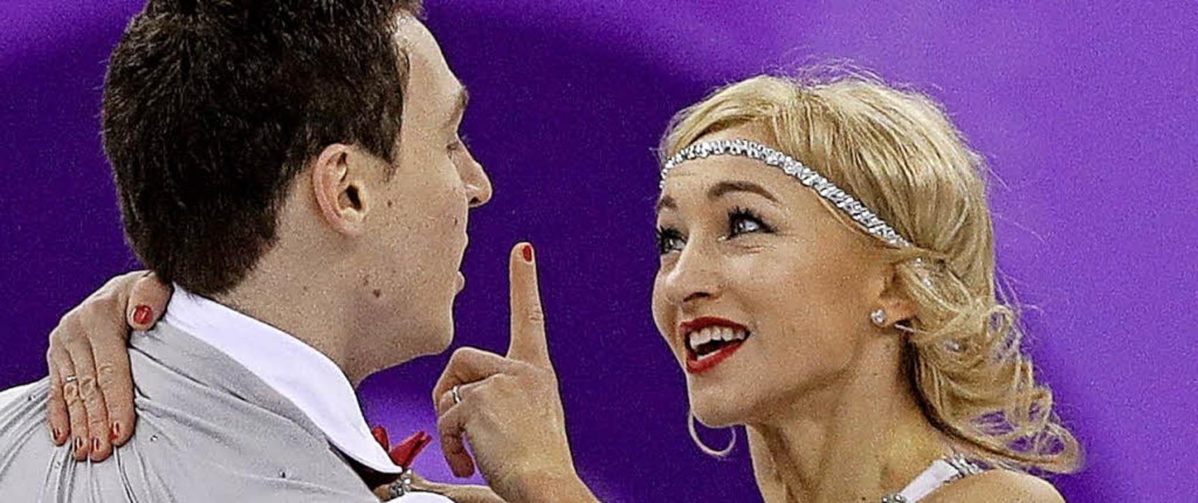 Der gemeinsame WM-Titel fehlt ihnen no...ger Bruno Massot und Aljona Savchenko   | Foto: dpa