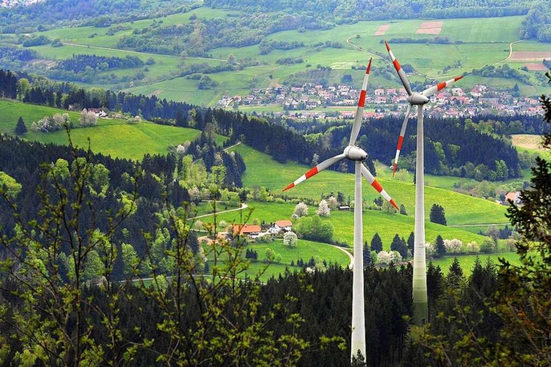 Die Windräder auf der Holzschlägermatt...ts den Segen des Regierungspräsidiums.  | Foto: Thomas Kunz