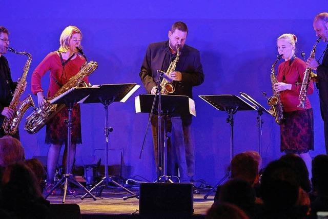 Saxophonist Nigel Hitchcock am 24. März in Staufen