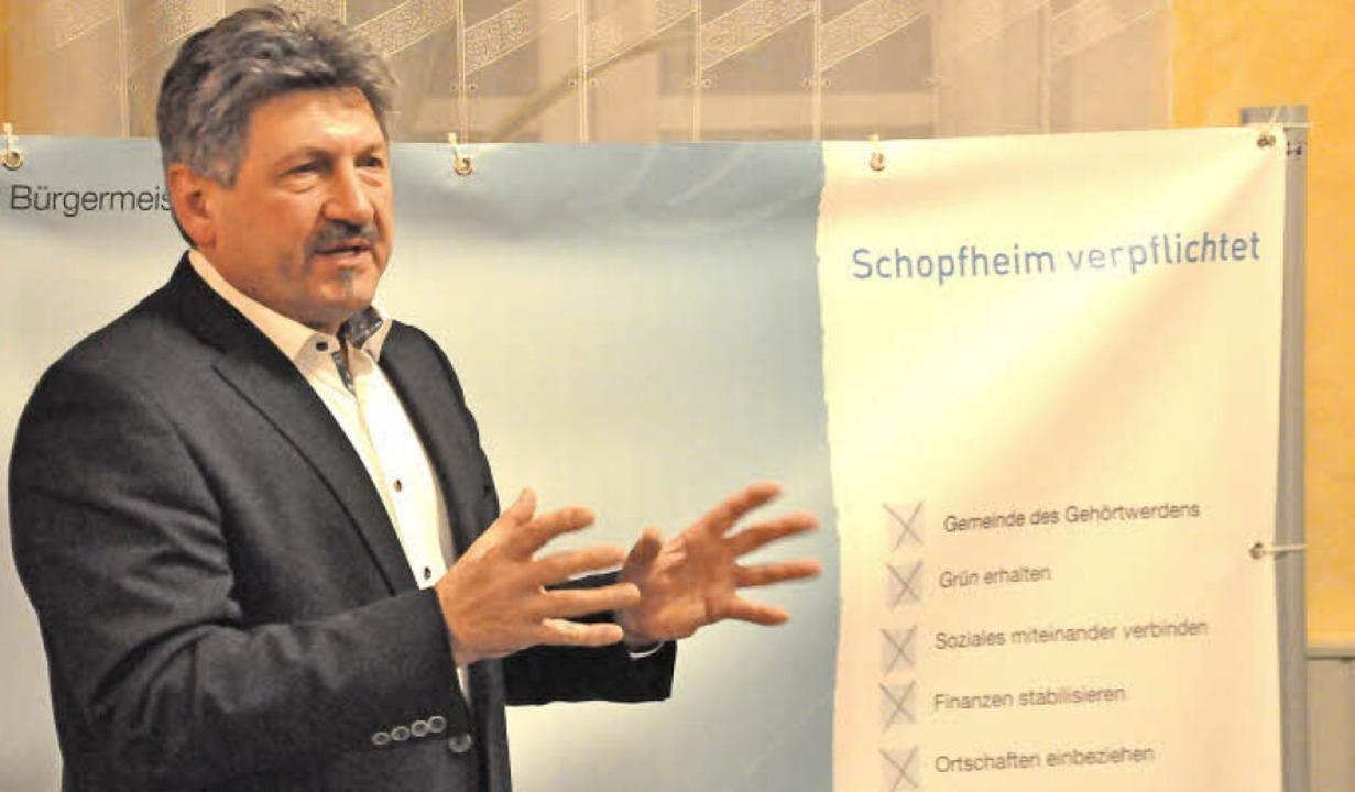 Roland Matzker will im Oktober Bürgermeister von Schopfheim werden.  | Foto: Nicolai Kapitz