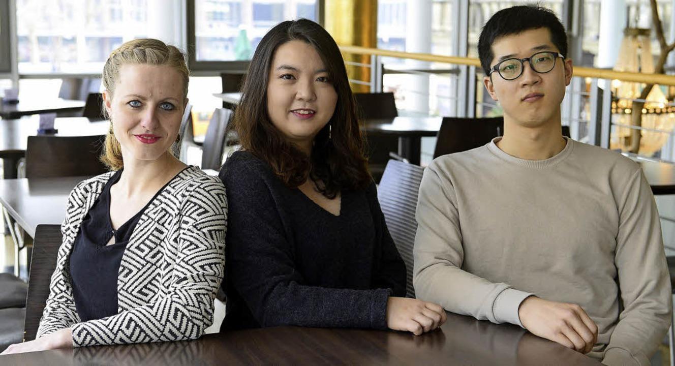 Amelie Petrich, Irina Jae-Eun Park und Jongsoo Yang (von links)  | Foto: Ingo Schneider