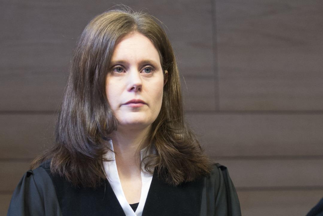 Die Vorsitzende Richterin Kathrin Schenk  | Foto: AFP