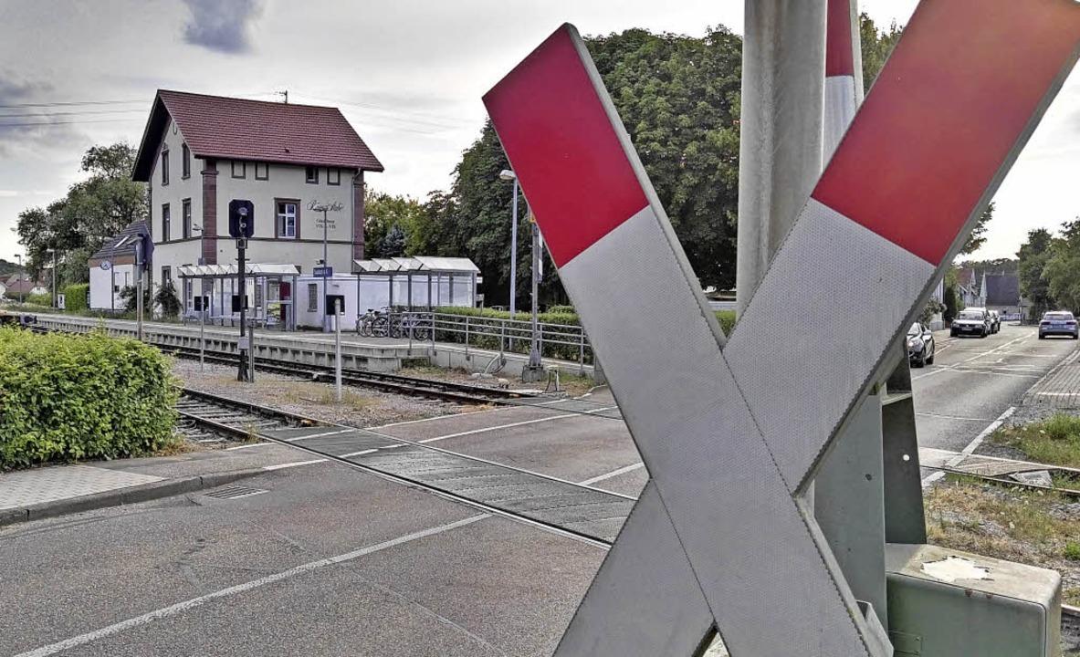Der Umbau des Bahnhofs Sasbach zum Kre...ie laut SWEG ab 7. Mai beginnen soll.   | Foto: Archivfoto: Martin Wendel