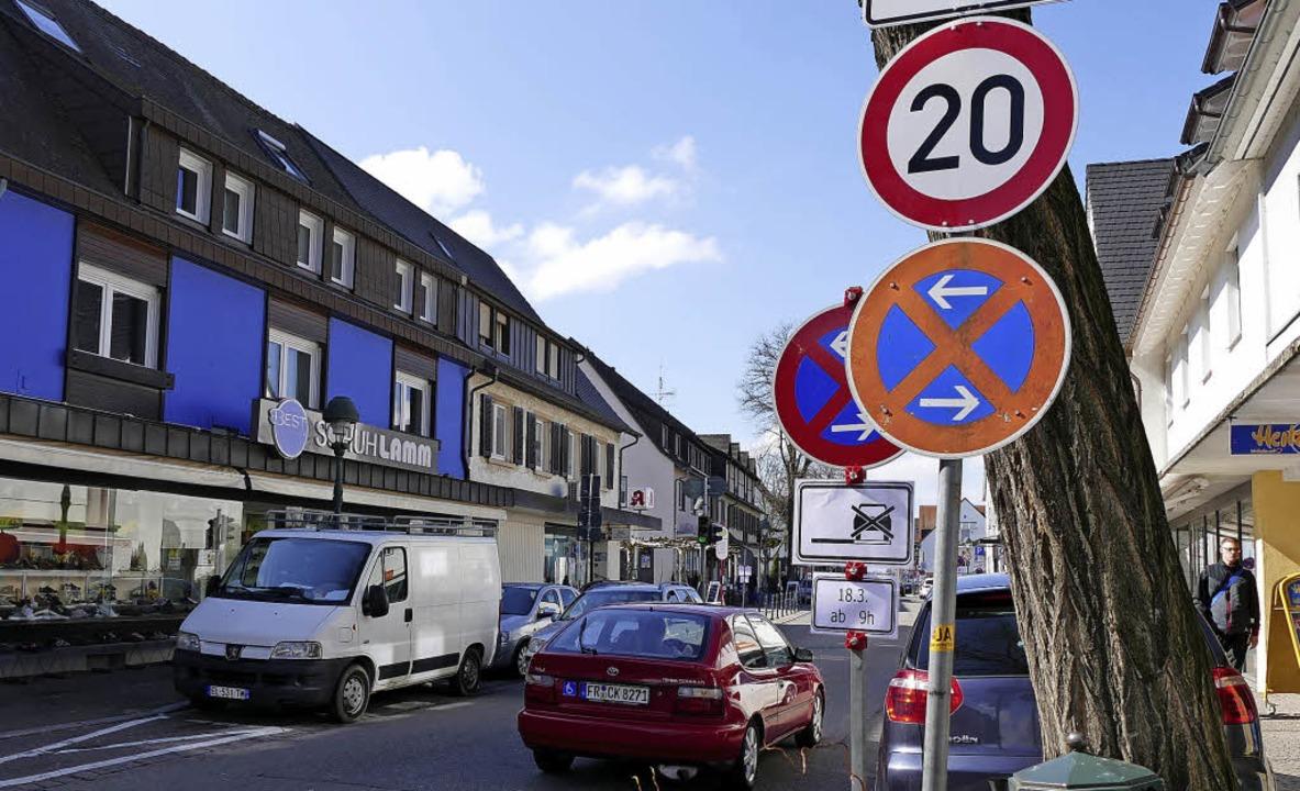 In der Neuenburger Schlüsselstraße gil... beruhigen und attraktiver zu machen.   | Foto: Helena Hiss