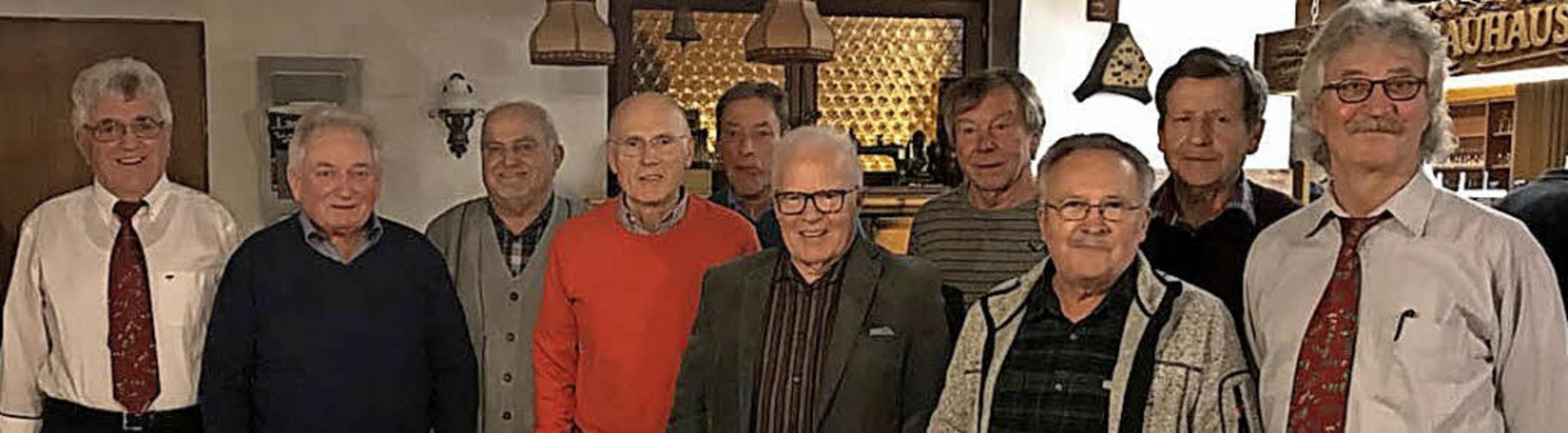 Gleich mehrere treue Mitglieder konnte...rd Bürkelbach und Hubert Lindenmeier.   | Foto: Verein