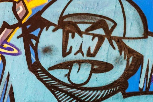Polizist erwischt Graffiti-Sprayer auf frischer Tat