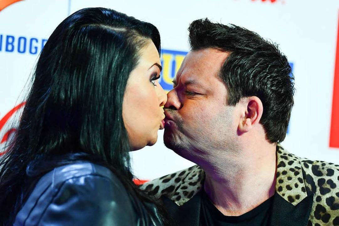 Ingo Appelt, Preisträger in der Kategorie Comedy, und seine Frau Sonja Appelt    Foto: dpa