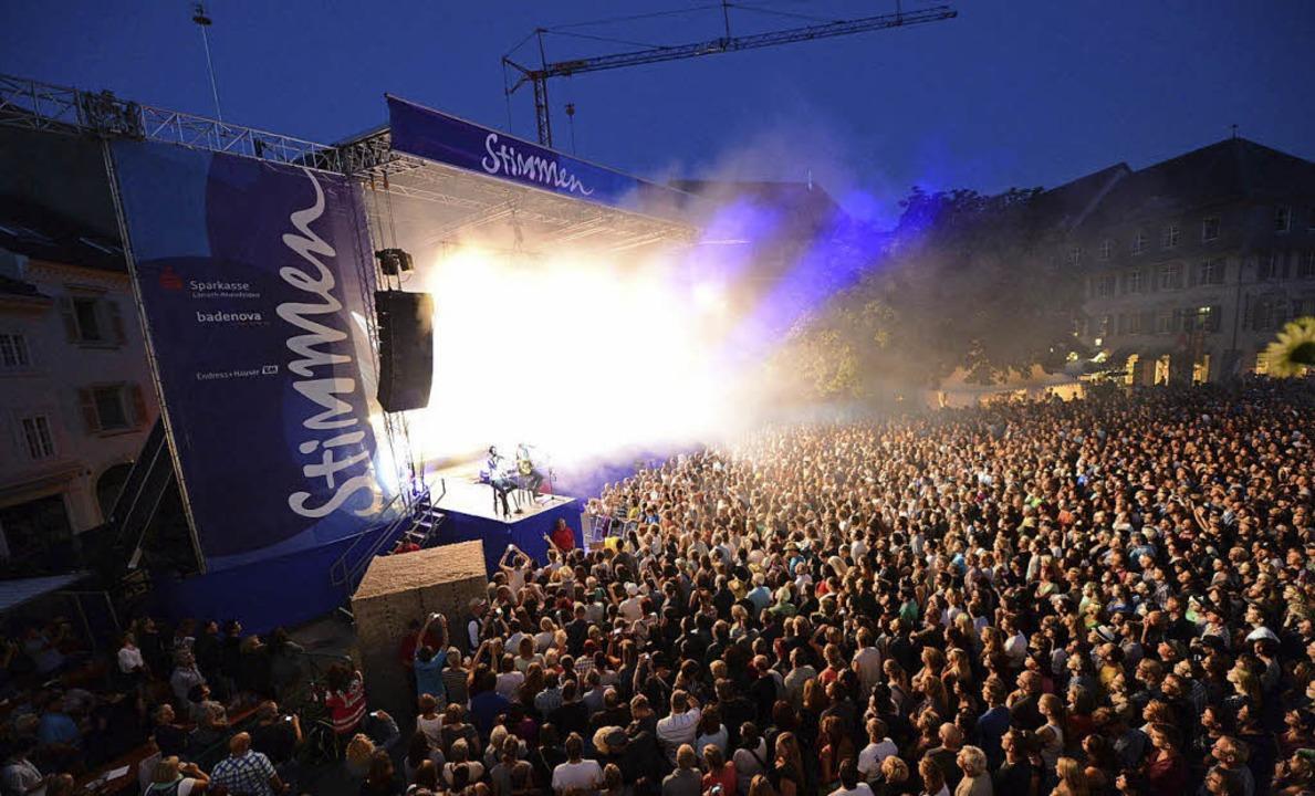 Das Stimmen-Festival ist in 25 Jahren ...Line-Up bleibt  aber außergewöhnlich.   | Foto: Fotos: Junkvov, Ruda