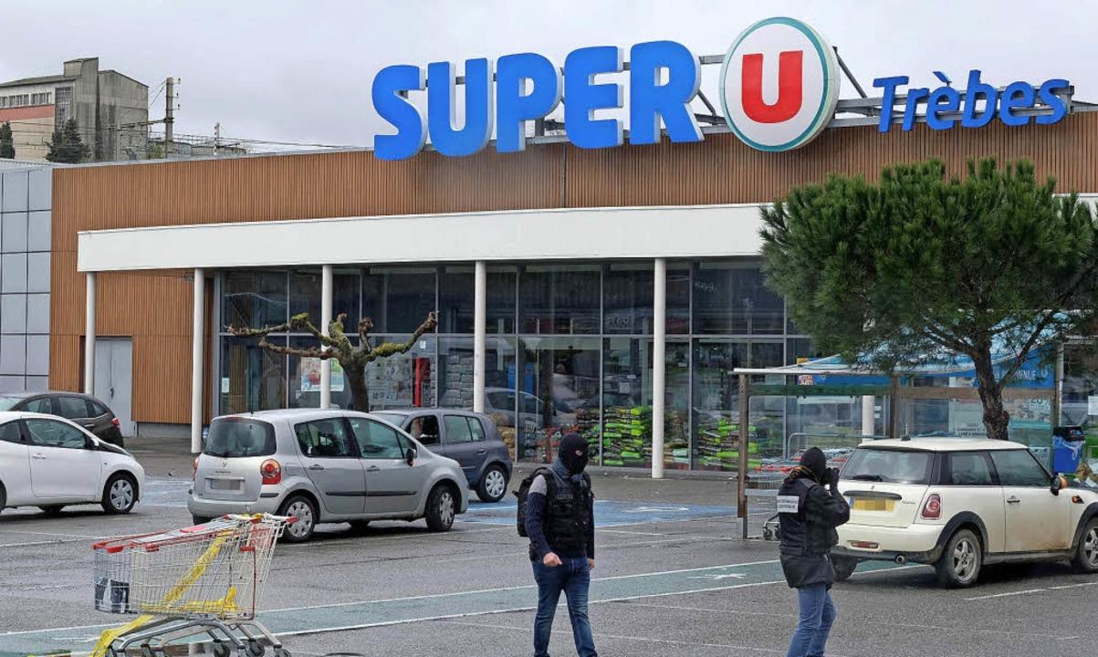 Tatort Supermarkt. Der polizeibekannte Terrorist tötete hier vier Menschen.     Foto:  afp
