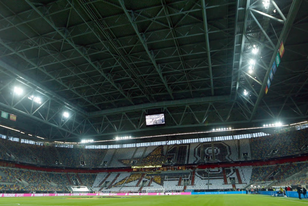 Die Esprit-Arena in Düsseldorf vor dem... Testspiels Deutschland gegen Spanien.  | Foto: dpa