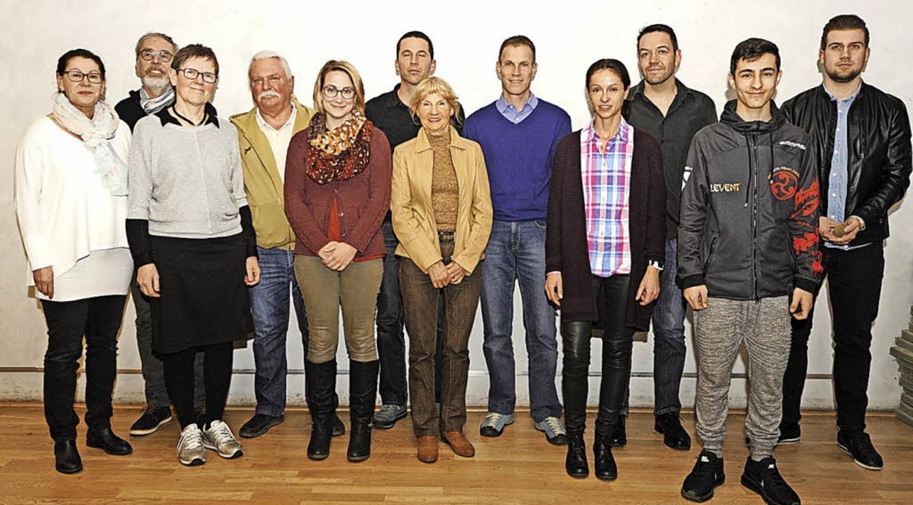 Für ihre Erfolge 2017 wurden Martina M...ger, Levent Kurt und Luca Klein geehrt    Foto: Markus Zimmermann