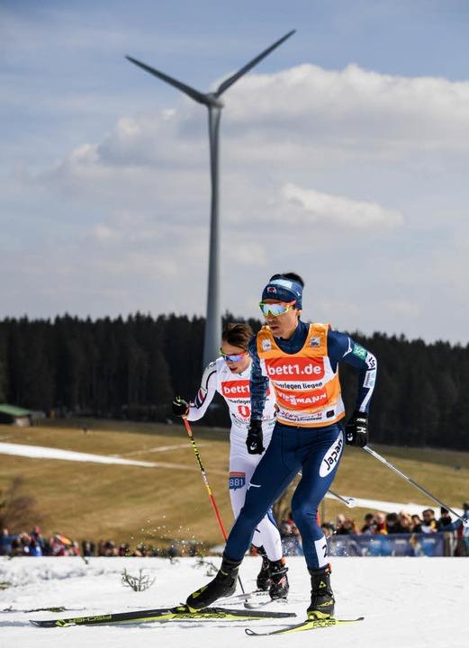 Skateten in Schonach schnell wie der W...platzierte Norweger Jarl Magnus Riiber  | Foto: dpa