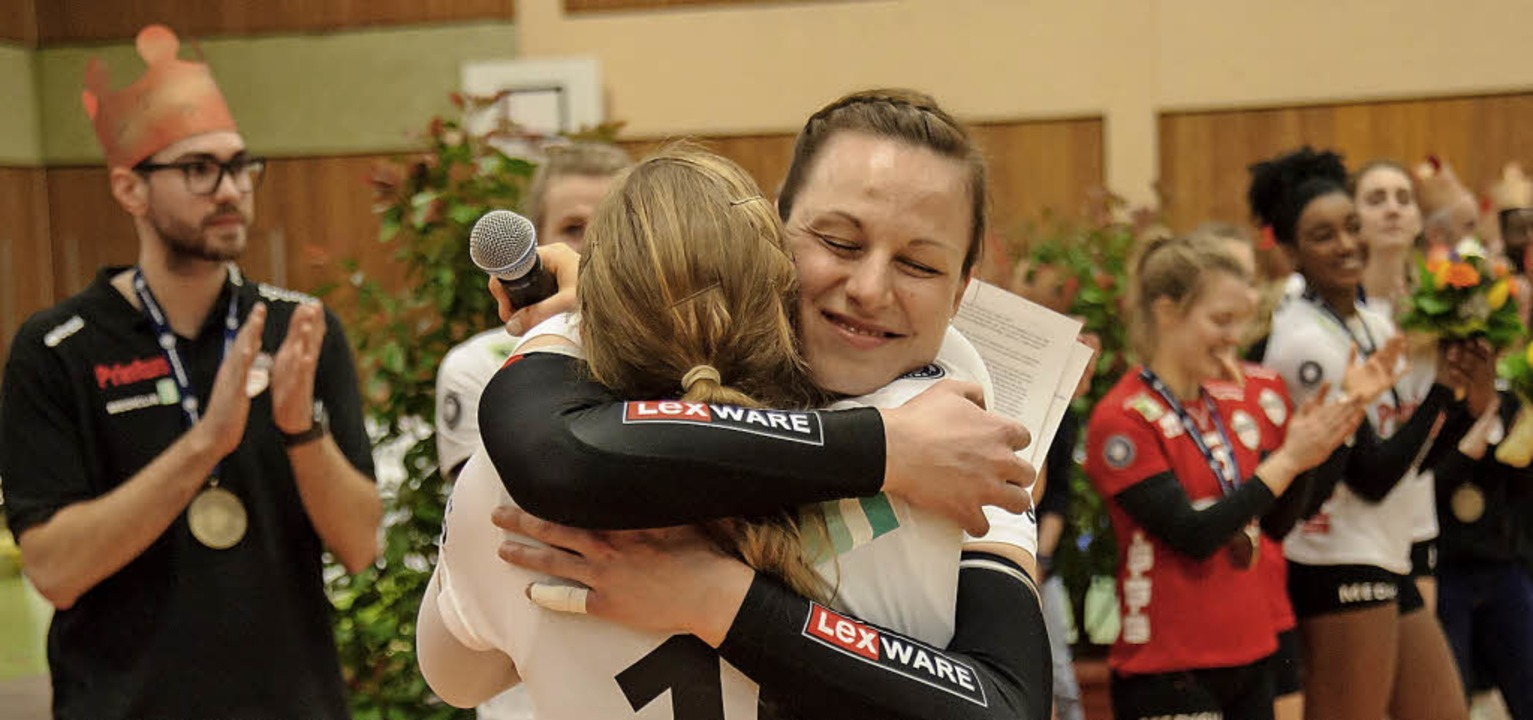 Titelgewinn und Abschied bestimmten die Gefühlslage in Offenburg.  | Foto: Sebastian Koehli