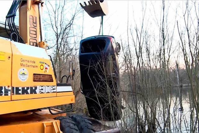 Auto in See bei Meißenheim löst große Rettungsaktion aus