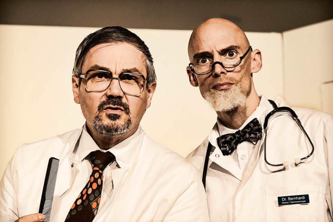 Professor  Bernhardi und sein Widersac...rian Wetter (rechts) und Daniel Leers   | Foto: kreitmeier