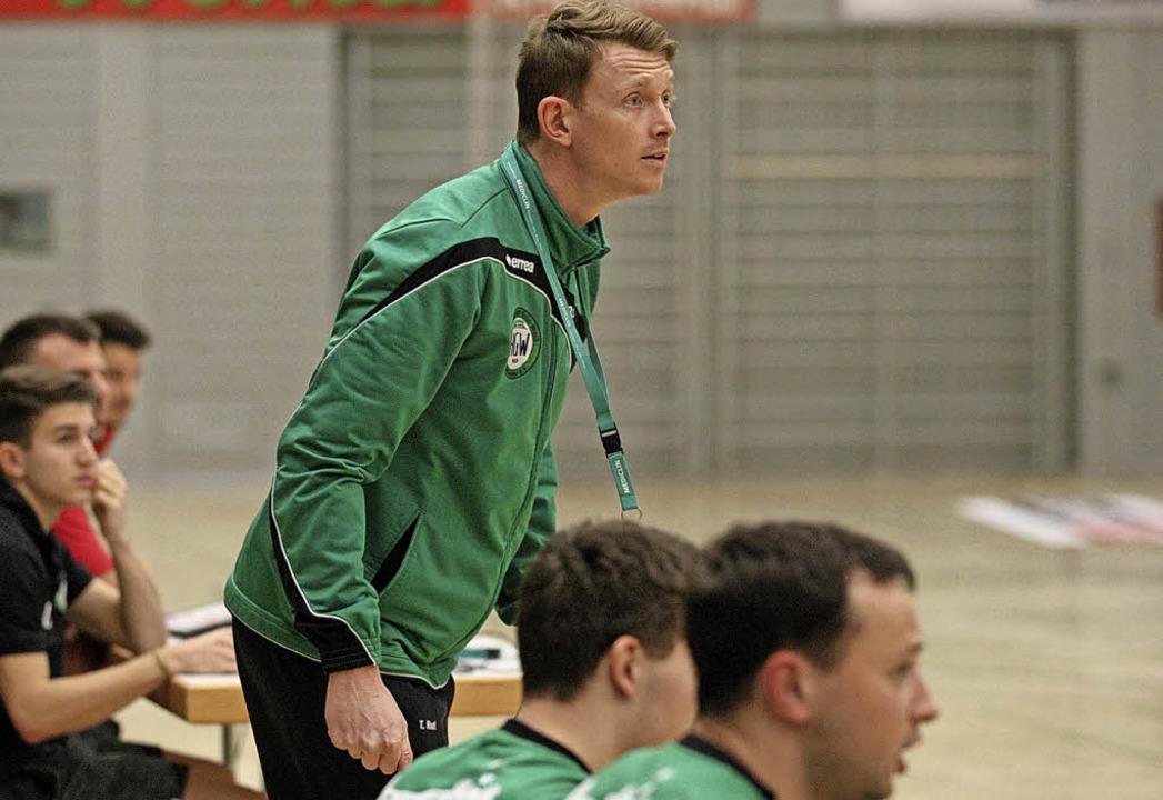 HGW-Trainer Tobias Ruf sah einen sicheren Sieg seines Teams.   | Foto:  A. Buss