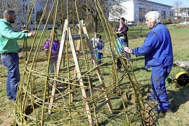 Im Naturentdeckergarten in Stetten gibt es bald Weiden-Häuser