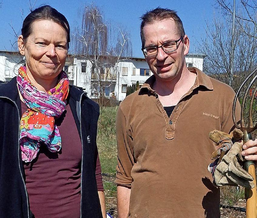 Christine Wondrak-Brunen und Sebastian Schleicher sind gemeinsam Vorsitzende.  | Foto: Johanna Hoegg