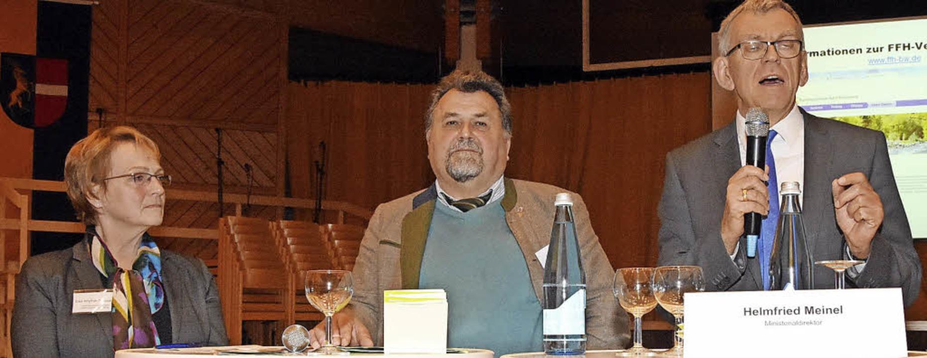 Als Experten beantworteten am Abend El...on links)  die Fragen der Teilnehmer.     Foto: Stefan Pichler