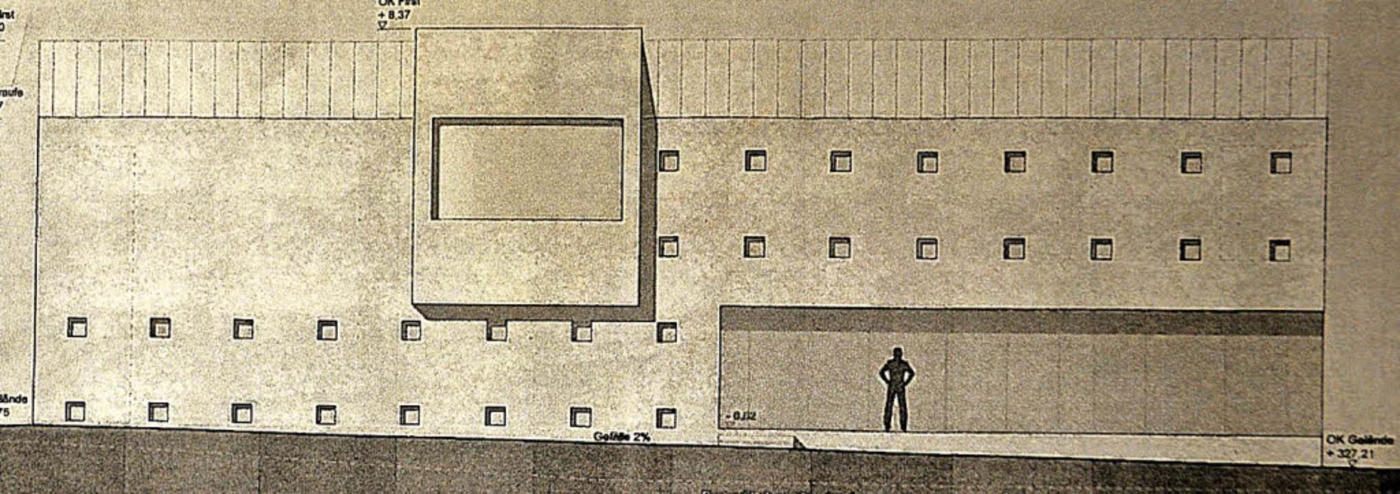 Das geplante Tunnelbetriebsgebäude, da...ckrichtung Niederwinden, stehen wird.   | Foto: RP
