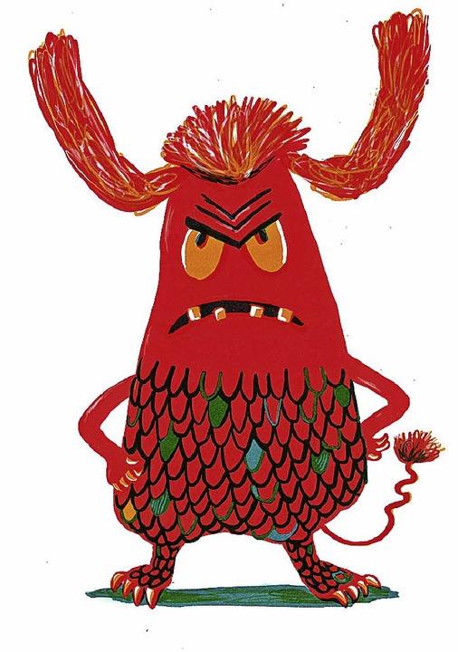 Auch Monster kommen in den Gedichten vor.     Foto: Verlag