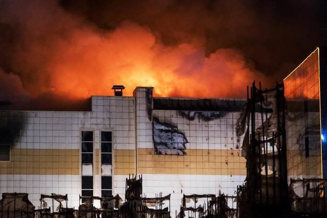 Die meisten der 64 Toten bei der Brandkatastrophe in Sibirien sind wohl Kinder
