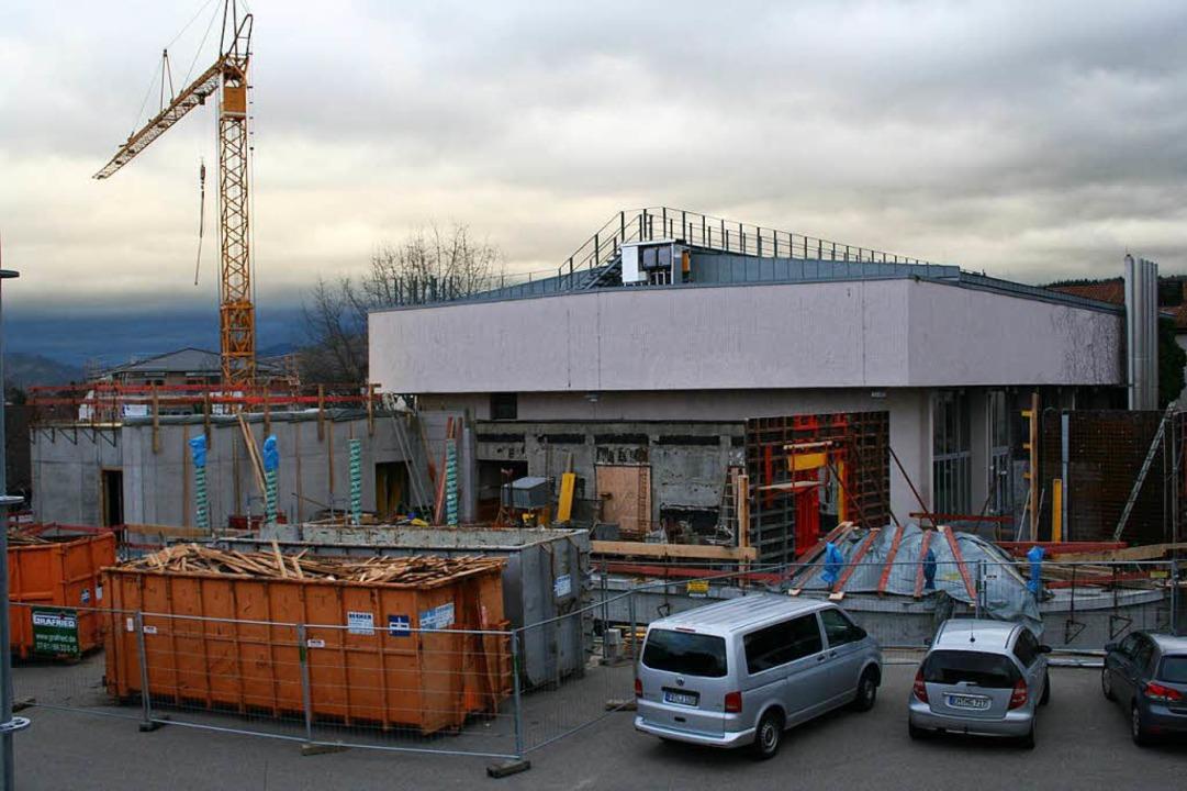 Baustelle auf dem Schulhof der Johann-Peter-Hebel-Schule in Gundelfingen    Foto: Privat