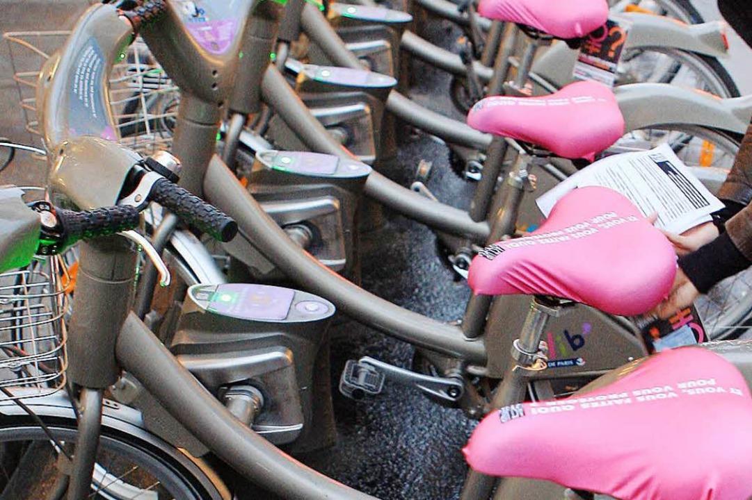 Leihräder in Paris – sogenannte Velib.  | Foto: ImageForum