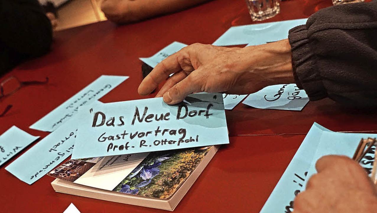 Bei der ersten Denkwerkstatt des Zukunftsforums wurden Ideen gesammelt.   | Foto: Hartmut Schäfer