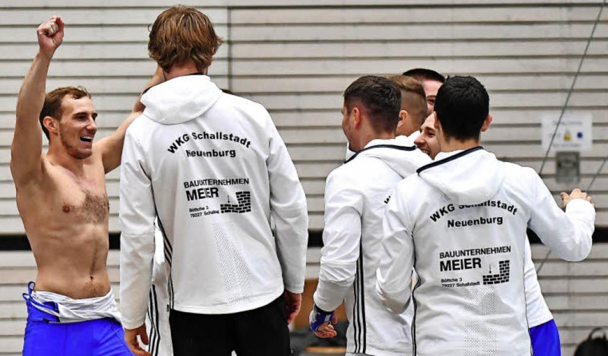 Jonas Schweizer (links) und die WKG Sc...burg haben in der Oberliga überzeugt.     Foto: Keller