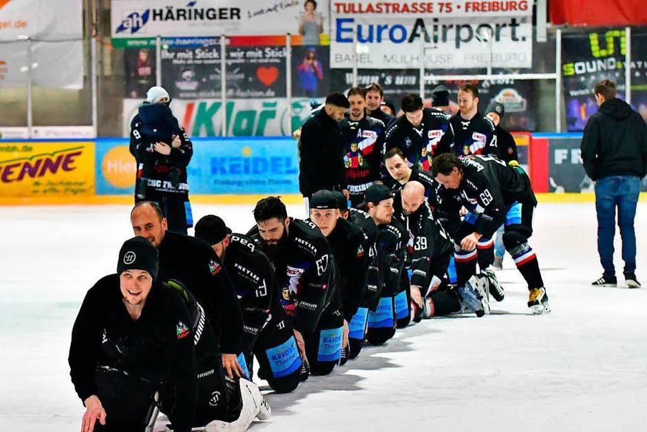 Der EHC Freiburg schafft mit einem 5:2-Sieg über Bad Tölz im siebten Spiel den Klassenerhalt in der DEL 2. (Foto: Achim Keller)