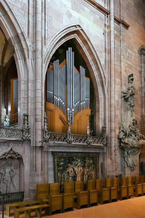 Die neue Chororgel im Freiburger Münster   | Foto: Fotomontage: Orgelbau Kuhn