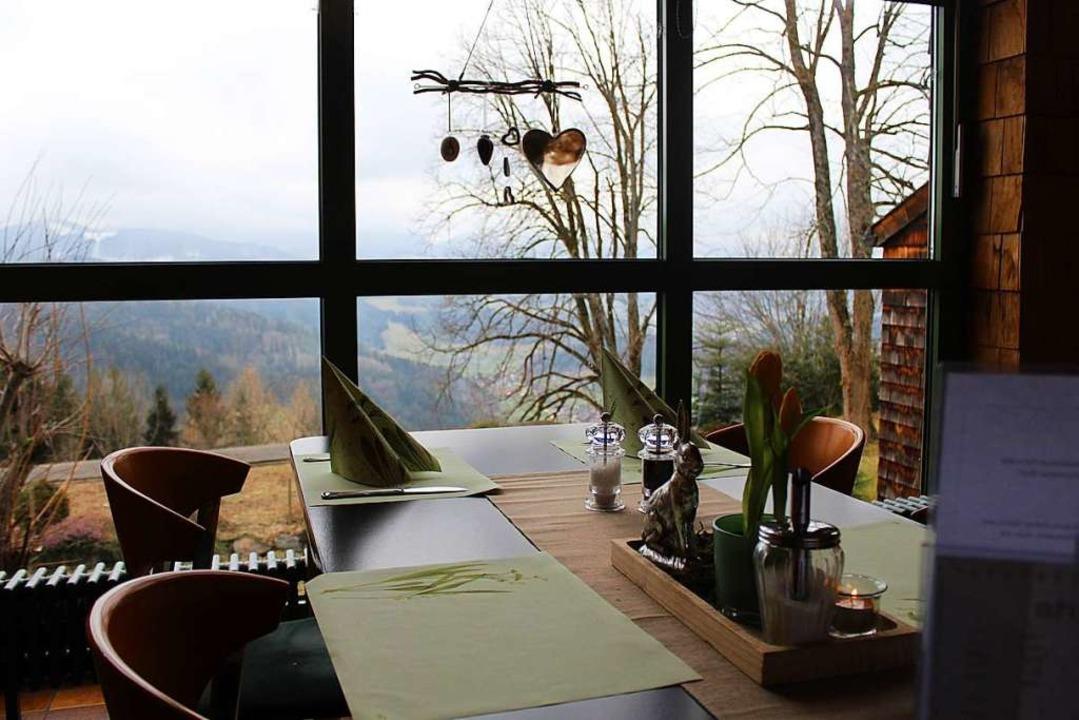 Heute können Gäste mit schönem Ausblick speisen.  | Foto: Joshua Kocher