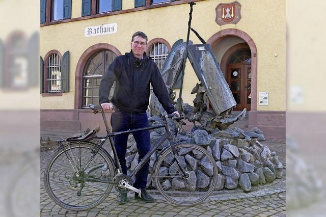 Zehn Jahre im Amt in drei Fahrradstunden