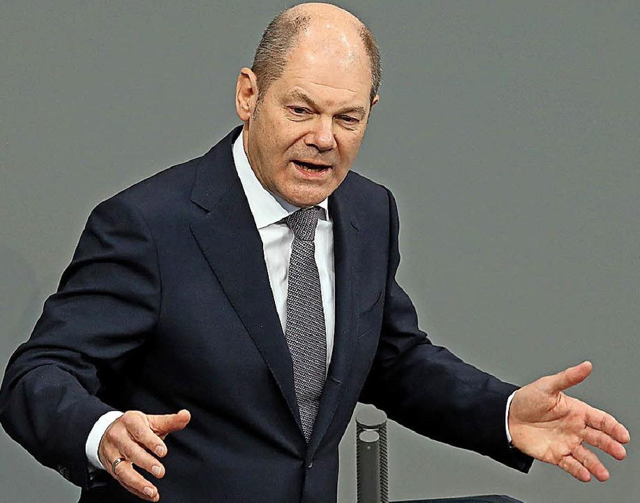Parteiintern unter Druck: Olaf Scholz    | Foto: DPA