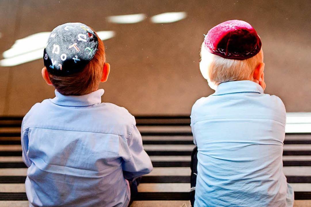 Jüdische Schüler in einer Hamburger Realschule.  | Foto: Daniel Bockwoldt