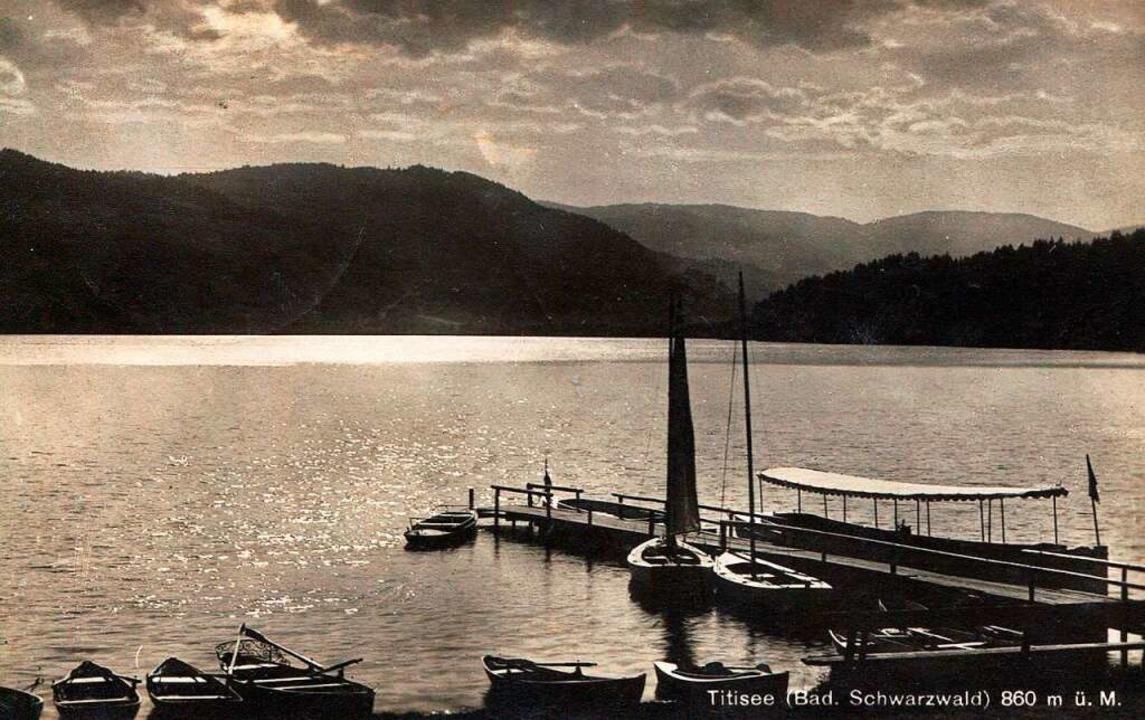 Abendstimmung am Titisee 1928.  | Foto: Archiv Roland Weis