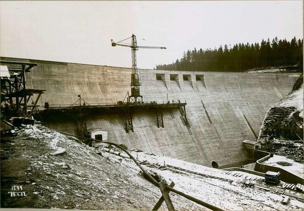Bau des Schluchseestaudamms 1930/31.  | Foto: Roland Weis