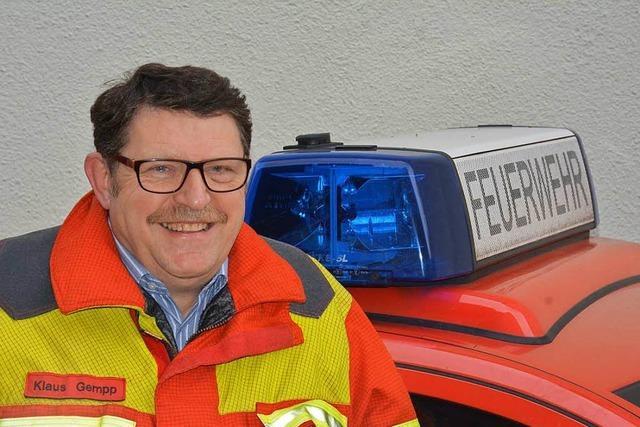 BZ-Interview mit dem scheidenden Stadtbrandmeister Klaus Gempp